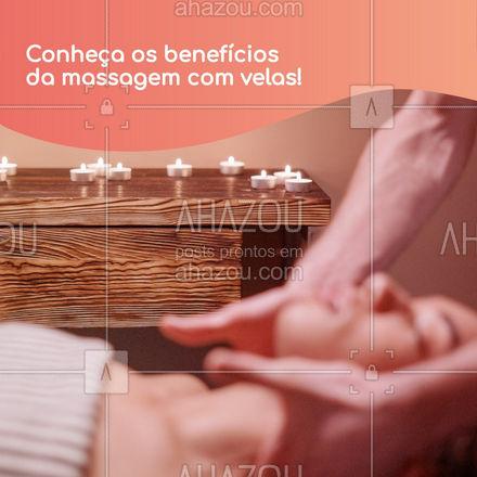 Essa técnica especial gera diversos efeitos positivos no no nosso corpo, como: • Melhora da circulação sanguínea; • Reduz inchaços; • Alivia dores e tensões; • Reduz ansiedade; • Melhora o funcionamento intestinal;  Agende já uma sessão conosco. Entre em contato inbox ou por whatsapp!   #AhazouSaude  #massoterapia #massagem #vela #candlemassage #beneficios