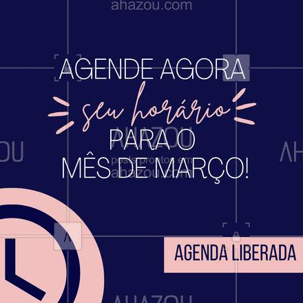 Novo mês pede novos cuidados! ? Agende agora ? (inserir telefone) ?? #agendaaberta #março #ahazoubeauty #estetica #beauty #beleza