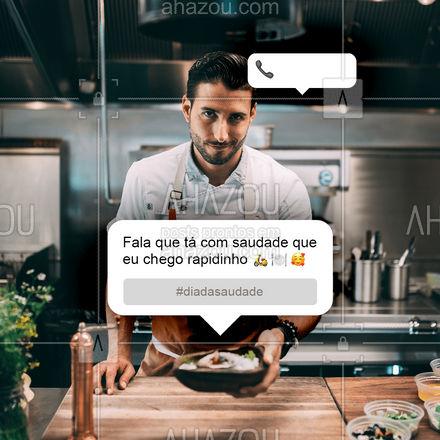 Me liga, me manda um telegrama....  Que eu chego rapidinho pra você matar a saudade! ??   #ahazoutaste  #gastronomy #foodie #gastronomia #foodlover #culinaria #instafood #diadasaudade #saudade