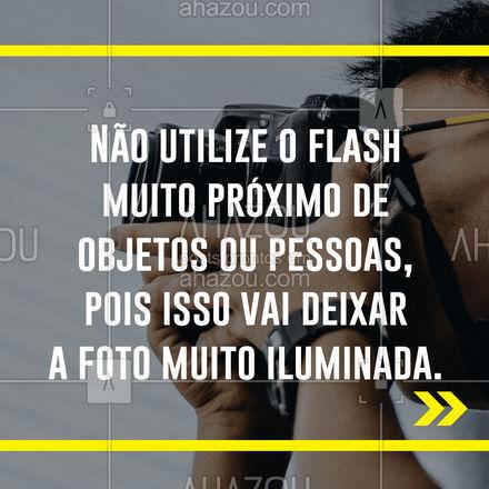 O flash é uma ferramenta que vai ajudar em diversos momentos, mas é importante se atentar ao uso dele e como fazer da forma correta. Entender a distância é essencial, pois próximo de mais a iluminação fica clara de mais e muito distante poderá ficar escura. Em locais com boa iluminação o flash deverá ser evitado.  #dicas #ahazoufotografia #foto #fotografia #carrosselahz