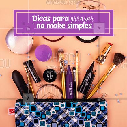 A qualidade dos produtos que você usa e o lugar em que você faz a make podem influenciar no resultado, preste atenção à esses detalhes! ? #make #maquiagem #carrosselahz #AhazouBeauty  #makeup #maquiadora