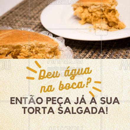 Não tem como resistir a uma deliciosa torta salgada não é mesmo? Então entre em contato e peça já a sua! #eat #ilovefood #instafood #ahazoutaste #foodlovers #torta #tortasalgada #delivery #entrega