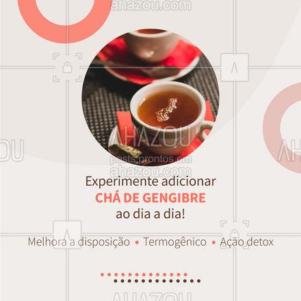 Uma xícara por dia, em geral, é suficiente para aproveitar todos os benefícios desse chá!  #AhazouSaude  #bemestar #nutricao #alimentacaosaudavel #saude #viverbem #cha  #termogenico