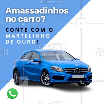 A gente devolve seu carro bem rápido, sem amassados e por um precinho bem camarada! ??? #martelinhodeouro #automotivos #AhazouAuto  #servicoautomotivo #manutencacaodecarros