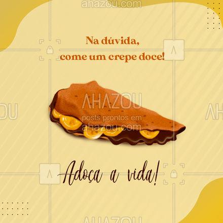 Mas se ficar muito na dúvida, pede dois! ?? #ahazoutaste #eat #ilovefood #instafood #foodlovers #crepe #crepelovers #crepedoce #ahazoutaste