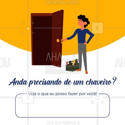 Serviço rápido, com qualidade e comprometimento você encontra aqui! ? #chave #chaveiro #AhazouServiços #serviços #serviçospracasa