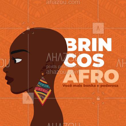 Aqui temos brincos com estampas afro que te deixaram mais linda e poderosa. #AhazouFashion  #fashion #estilo #brincos #earrings #acessorios #semijoias