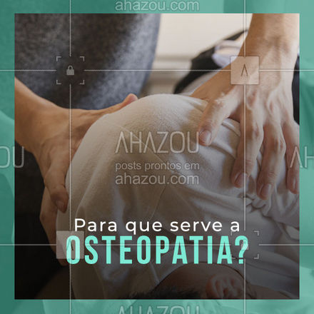 A Osteopatia serve para aliviar a tensão e melhorar a circulação sanguínea! Usando técnicas que ajudam a melhorar o movimento das articulações. Entre em contato e saiba mais! #AhazouSaude #osteopatia  #fisioterapeuta  #fisio  #qualidadedevida  #physiotherapy  #fisioterapia