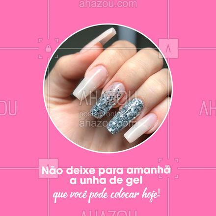 Marque seu horário e venha se sentir bem! #AhazouBeauty #beleza #unhas #nailart #manicure