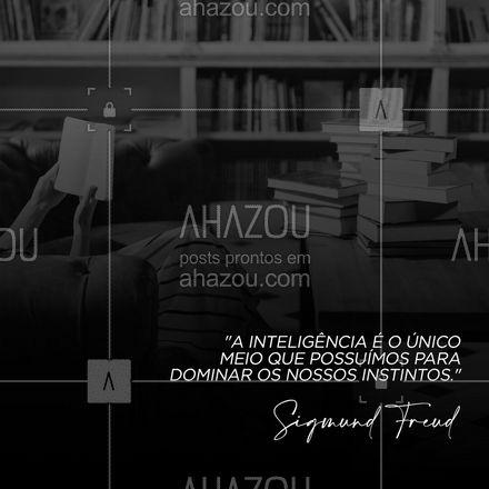 Buscar conhecimento é a chave para uma vida melhor e mais saudável. #AhazouSaude #terapia #postdefrase #frasesdefreud #sigmundfreud #freud #AhazouSaude