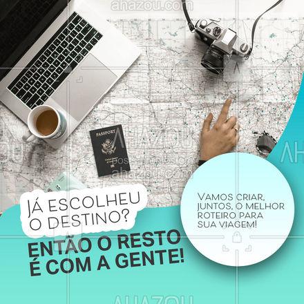 Não sabe bem o que quer fazer ainda? A gente te ajuda! Temos as melhores opções de pacotes para tornar sua viagem um evento memorável!  #AhazouTravel  #viagens #agentedeviagens #viageminternacional #trip #viagem #viajar #viagempelobrasil #agenciadeviagens