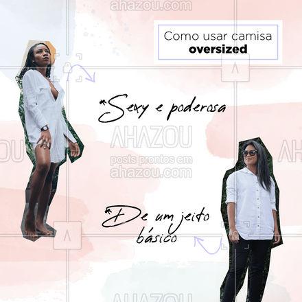Quer estar estilosa com aquela camisa que não sabe como usar? Olha essa dica que perfeita! Era exatamente o que você precisava, né amada? Compartilhe com uma amiga! #AhazouFashion #lookdodia #fashion #OOTD #style #moda #outfit #AhazouFashion