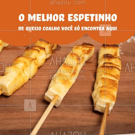 Seu churrasco vai ficar ainda mais saboroso com espetinho de queijo coalho. Peça já o seu #açougue #queijocoalho #churrasco #ahazoutaste #espetinho #espetinhodequeijocoalho #ahazoutaste