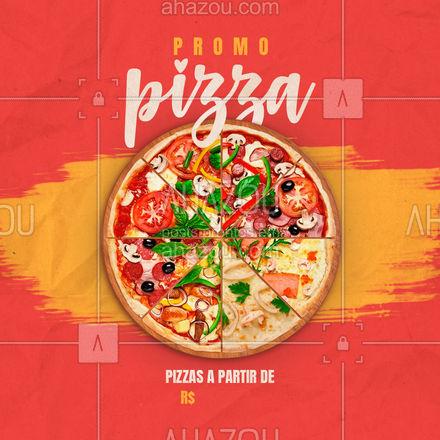 Aqui a semana vai ser de promoções! Pizzas a partir de R$ [INSERIR VALOR]. Faça seu pedido pelo fone ?(XX) (XXXX-XXXX) ??  #ahazoutaste  #pizzaria #pizza #pizzalife #pizzalovers