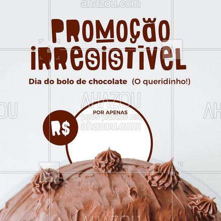 É promoção gostosa que você quer? Dessa vez não vai ter como deixar passar! Já pediu seu bolo de chocolate? Aproveite! #ahazoutaste  #bolo #bolocaseiro #doces #kitfesta