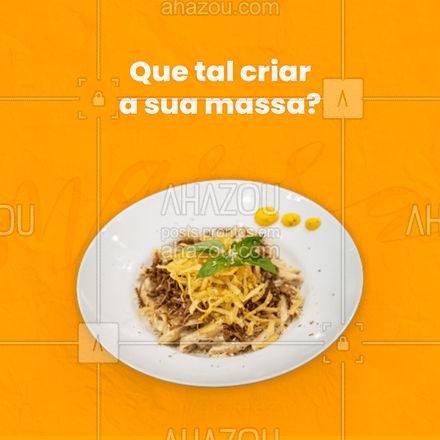 Temos vários ingredientes e molhos para você montar a sua massa do seu jeito! ? Abuse na sua criação e venha se deliciar conosco. #gastronomia #food #pasta#nhoque #lasanha #macarrao #ahazoutaste #massa #molhos #ingredientes #comidaitaliana #restauranteitaliano #ahazoutaste
