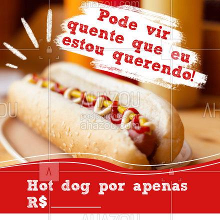 O verdadeiro cachorro quente você encontra aqui! Vem comer o melhor hot dog que você já viu! #ahazoutaste #hotdog  #hotdoglovers  #hotdoggourmet  #cachorroquente  #food #promoção #preço #convite #pedido #delivery