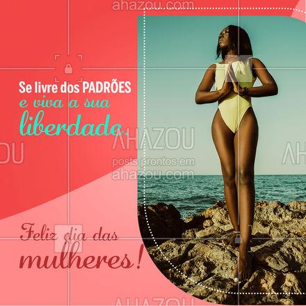 Toda mulher é incrível demais para se encaixar em padrões, viva a sua liberdade de poder ser quem quiser ser e sem precisar se esconder! Nossa moda praia é para todas as mulheres maravilhosas, venha nos visitar e encontre o biquíni ideal para você! #tendencia #moda #modapraia #summer #praia #AhazouFashion #beach #verao #fashion #piscina #tamanhos #liberdade