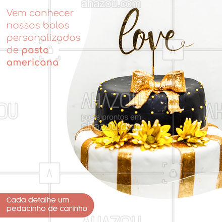 Vem conhecer os nossos lindos bolos personalizados com pasta americana, eles são lindos e perfeito para qualquer ocasião, faça uma surpresa para quem você ama com um tema especial ? #ahazoutaste  #confeitaria #bolo #doces #pastaamericana #personalizados