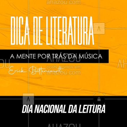 Essa obra foi escrita pelo músico, produtor musical e psicólogo, Erick Bittencourt. O livro aborda diversos conceitos científicos sobre como a música nos influencia no modo de agir, pensar e principalmente em como isso impacta nossa saúde mental. 📚🎶 #AhazouEdu #aprendamúsica #dianacionaldolivro #dicadelivros #música #instrumentos