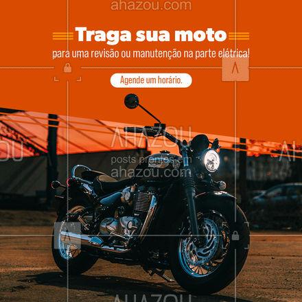 Agende um horário e traga sua moto para uma revisão e/ou manutenção da parte elétrica! ? #AhazouAuto  #eletricaautomotiva #instalacao #servicosautomotivos