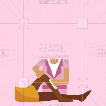 Entre em contato com a gente e verifique a nossa disponibilidade de horário! #depilação #AhazouBeauty#beleza #atendimentoadomicílio