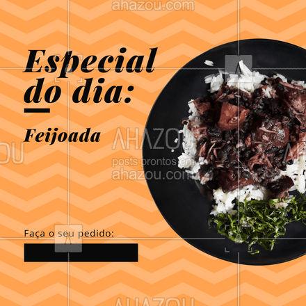 Hoje é o dia da nossa maravilhosa, saborosa e super recheada feijoada. Então não deixe de pedir a sua pelo contato (colocar aqui o contato), que entregamos para você. #feijoada #alacarte #marmita #ahazoutaste #delivery #convite