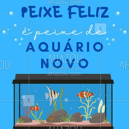 O aquário é a casa onde o seu peixinho vai passar toda a sua vida. Que tal aproveitar o Dia internacional da felicidade e dar pra ele uma casa mais bonita e espaçosa? ?? #AhazouPet #felicidade #aquario #peixes #petshop