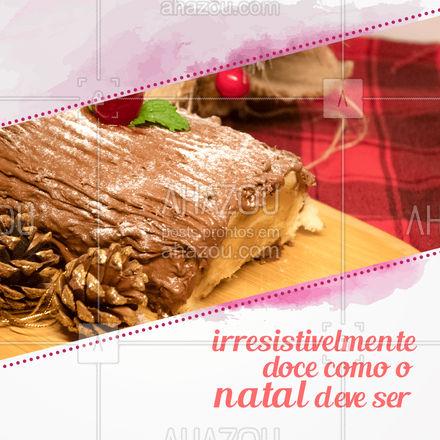 Porque você merece um Natal recheado de delícias doces! ? Encomende o seu ? (inserir telefone) #confeitaria #doces #ahazoutaste #confeitariaartesanal #docinhos