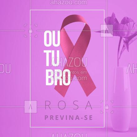 A conscientização ajuda muito a diminuir a incidência do câncer de mama.Prevenir é uma das melhores formas de lutar!#outubrorosa #ahazou #saude #cancerdemama #prevencao  #outubrorosabrasil  #outubrorosaeuapoio #mulher