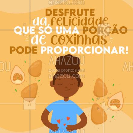 Afinal, quem resiste as clássicas coxinhas? #coxinha #salgado #ahazoutaste #foodlovers  #salgados