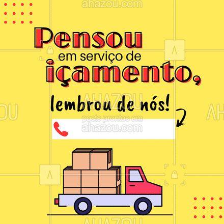 Conte com o melhor serviço de içamento da região! ?? #içamento #transporte #carreto #AhazouServiços #serviços #serviçospracasa