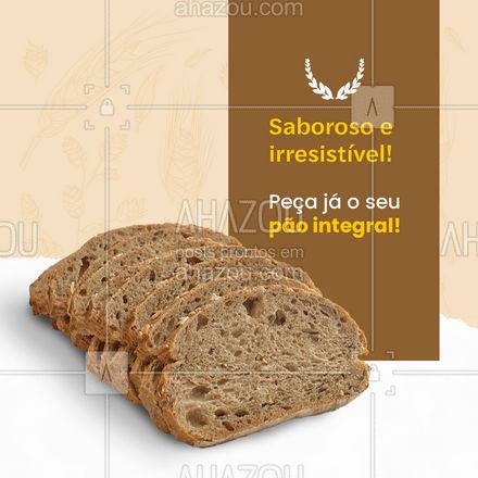 Que tal um pão integral muito saboroso e macio e quentinho? Aproveite e peça já o seu! #padaria #pãoquentinho #padariaartesanal #ahazoutaste #cafedamanha #panificadora #bakery #confeitaria