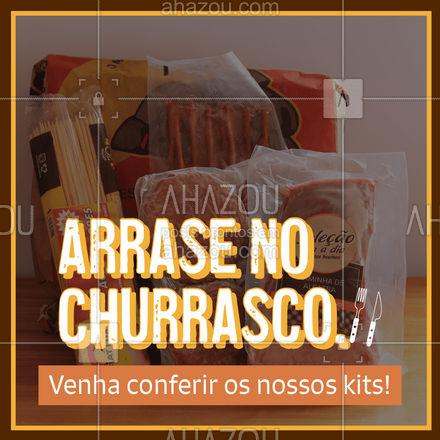 Não precisa mais se preocupar se o churrasco vai agradar a todos, temos vários kits de churrasco para você arrasar na festa com a família e amigos! #churrasco #bbq #açougue #barbecue #ahazoutaste #churrascoterapia #meatlover