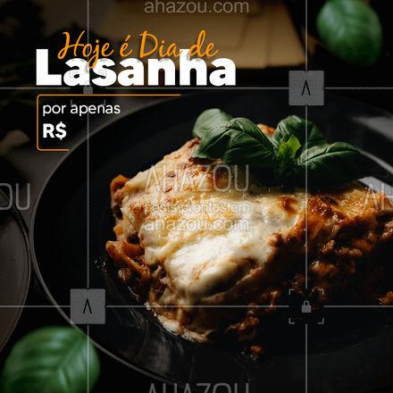 Comemore o melhor dia do ano com nossa saborosa lasanha!? Peça já a sua! #diadalasanha #ahazoutaste #comidaitaliana #alacarte #marmitex
