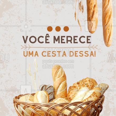 Um lindo café da manhã merece pães fresquinhos e diversos para você provar cada pedacinho que fazemos com muito carinho, faça a sua própria cesta com pães lindo e fresquinhos ? #ahazoutaste  #padaria #panificadora #cafedamanha #cestadepão #pão