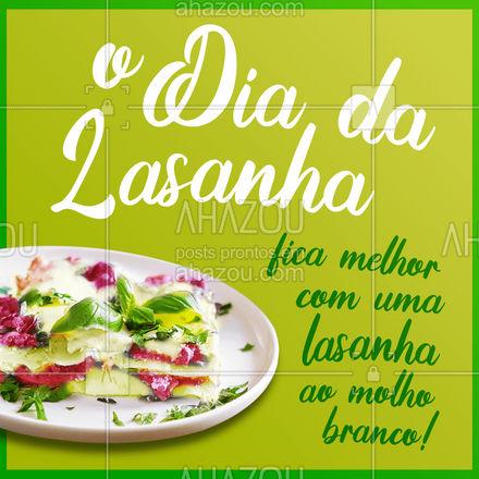 Gente que ama lasanha comemora o Dia da Lasanha com a nossa! Encomende já a sua! #diadalasanha #ahazoutaste #comidaitaliana #alacarte #marmitex #ahazoutaste