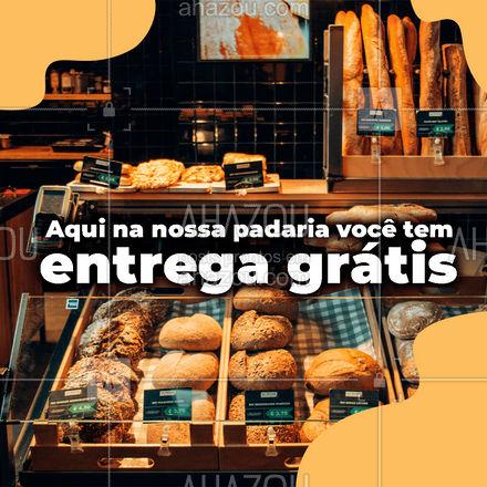 Quer noticia melhor que essa? Não basta as delicias que você encontra aqui na nossa padaria, também temos entrega grátis ?  #ahazoutaste #padaria #panificadora #entrega #gratis #entregagratis #pão