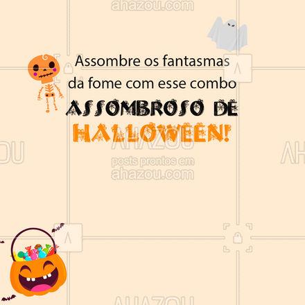 Não tem fantasma da fome que resista depois desse combo de arrepiar! ?? #CombodeHalloween #Halloween #ahazoutaste  #gastronomia #foodlover