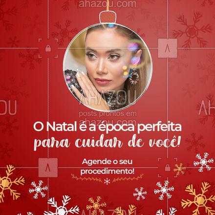 Neste Natal, tire um tempinho para cuidar de você e tirar seus sonhos do papel, agende seus procedimentos! ??  #PresentedeNatal #Natal #AhazouBeauty  #estetica #beauty #beleza