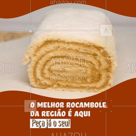 Os melhores ingredientes e tudo feito com muito carinho para você! Peça já o melhor rocambole da região! #padaria #padariaartesanal #cafedamanha #panificadora #bakery #ahazoutaste #confeitaria #bolocaseiro #docinhos #foodlovers #confeitaria #rocambole #ahazoutaste