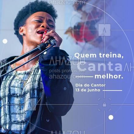 Toda habilidade precisa de treinamento. Para os cantores, isso não seria diferente. Mas é importante treinar com a técnica certa. E estou aqui para te ajudar a ser um cantor melhor. Vamos cantar? #AhazouEdu #singer #cantor #diadocantor #música