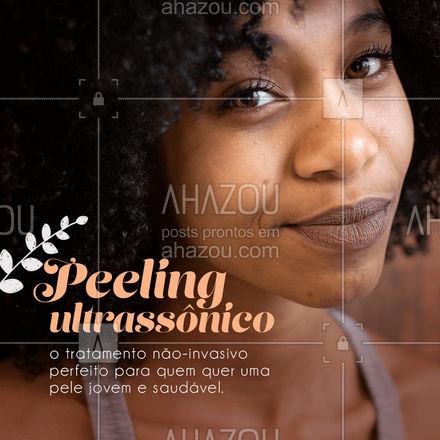 Entre em contato para conhecer esse super procedimento e agendar seu horário! #peelingultrassônico #AhazouBeauty #beleza #esteticafacial #saúde