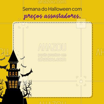 Venha aproveitar já esse preço assustador! ? #AhazouServiços #halloween #promoção #preços #serviços
