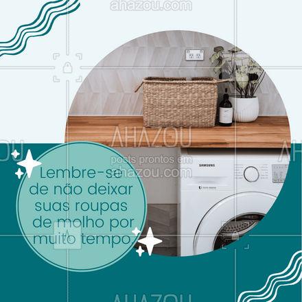Deixar as roupas de molho por mais de uma hora pode ser prejudicial para a limpeza e conservação das peças, isso por que o sabão  tem um agente que segura a sujeira em cima da água para que ela não volte ao tecido, mas este efeito dura apenas 1h, caso a roupa permaneça de molho após isso a sujeira irá se espalhar e a roupa voltará a ficar suja. 👕 #AhazouFashion #costureira #reparos #modasustentavel #fashion #dicasderoupas