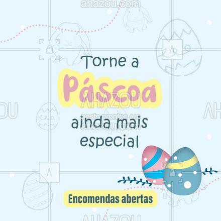 Faça suas encomendas e garanta que a Páscoa seja inesquecível! Aguardamos seu contato. (Inserir contato) #páscoa #ovodepáscoa #ahazoutaste #encomendas #confeitaria #doces