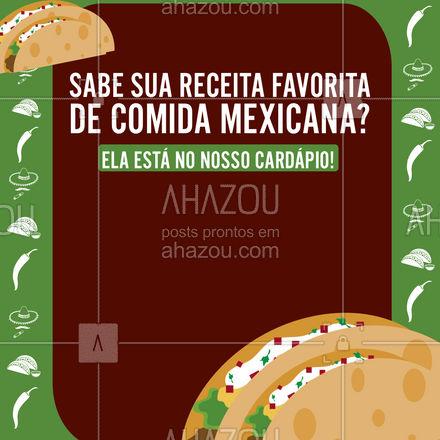 Mata a vontade! Nosso menu está cheio de receitas (e drinks) típicos do México para alegrar seu dia. ?? #ahazoutaste  #comidamexicana #cozinhamexicana #vivamexico #texmex #nachos