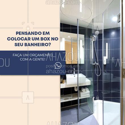 Garantimos um serviço eficiente e com qualidade que vai deixar seu banheiro impecável! ? #box #boxbanheiro #AhazouVidraçaria  #vidracaria #vidraceiro