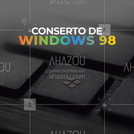 Windows 98 é um clássico. E todo clássico merece ser bem cuidado. Por aqui, a qualidade é garantida! #AhazouTec #computador #microsoft #windows98