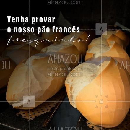 Todo os dias temos fornadas quentinhas de pão francês saindo diretamente para a sua casa, levando sempre muito carinho em cada pãozinho ? #ahazoutaste #padaria #panificadora #cafedamanha #pãoquentinho #convite